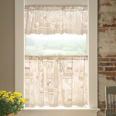 Woodland Patch 30-Inch Window Curtain Tier in White