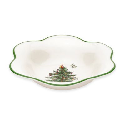 Spode® Christmas Tree Daisy-Shape Bowl
