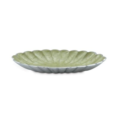 Julia Knight® Peony 16-Inch Oval Bowl in Kiwi