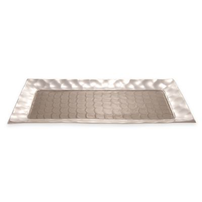 Julia Knight® Diamond Rectangular Tray in Platinum