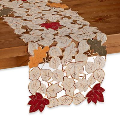 Sam Hedaya Fall Foliage 36-Inch x 14-Inch Table Runner