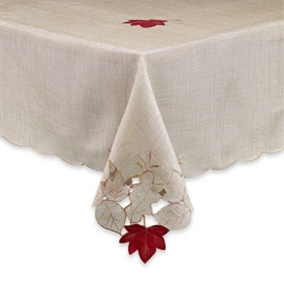 Buy croscill falling leaves 52 inch x 70 inch tablecloth for Tablecloth 52 x 120