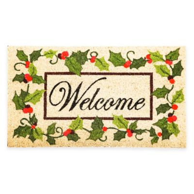 Holly Welcome 16-Inch x 28-Inch Door Mat Insert