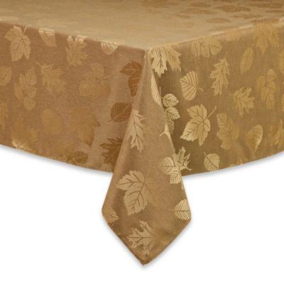 Sam Hedaya Acadia 52-Inch Round Tablecloth in Gold