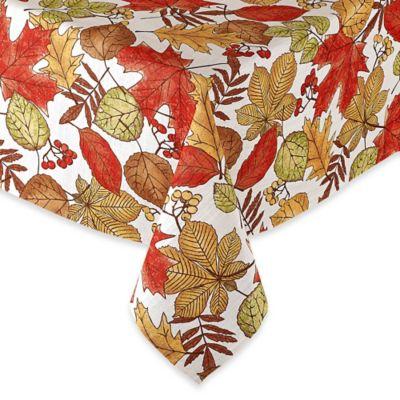Sam Hedaya Oxford Leaves 52-Inch Round Tablecloth