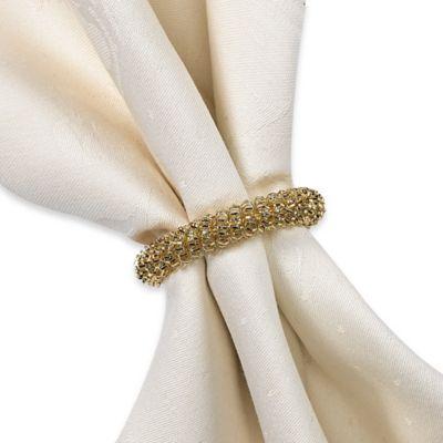 Garland Napkin Ring in Gold