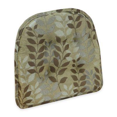 Klear Vu Tufted Dora Gripper® Chair Pad in Gold