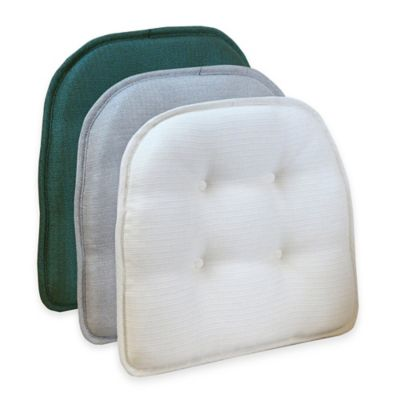 Klear Vu Tufted Omega Gripper® Chair Pad in Steel