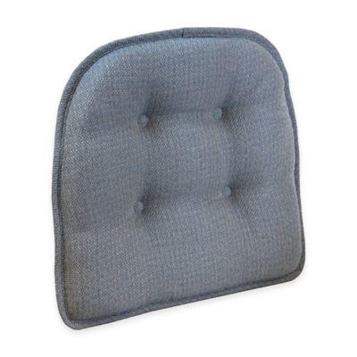 Klear Vu Tufted Omega Gripper® Chair Pad in Steel