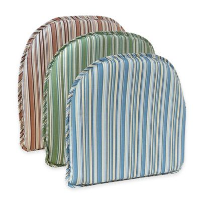 Klear Vu Essentials Cottage Stripe Gripper® Chair Pad in Blue