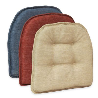 Klear Vu Tufted Embrace Gripper® Chair Pad in Red