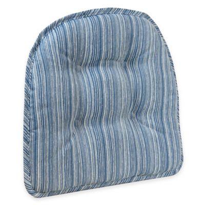 Klear Vu Tufted Sophia Gripper® Chair Pad in Blue