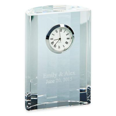 4.5-Inch Optic Crystal Semi-Circular Clock