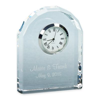 3.75-Inch Arched Optic Crystal Clock