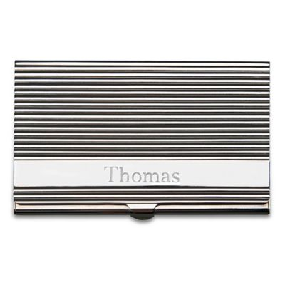 Linear Card Case in Silver