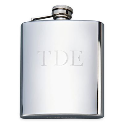 8 oz. Polished Stainless Steel Flask in Silver