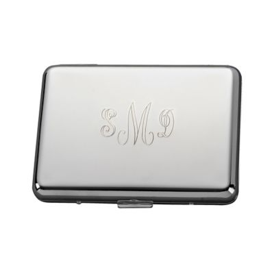 Accordion-Style Metal Card Case in Silver
