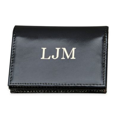 4-Inch Expanding Leather Card Case in Black