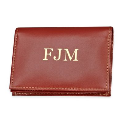 4-Inch Expanding Leather Card Case in Brown