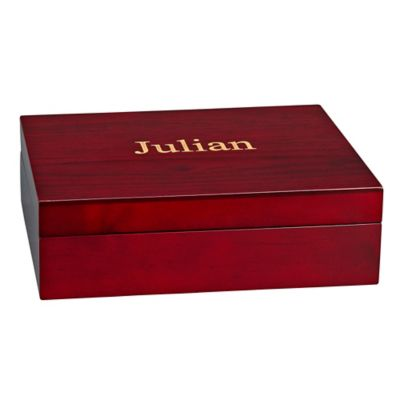 Julian Wood Keepsake Box with Green Lining