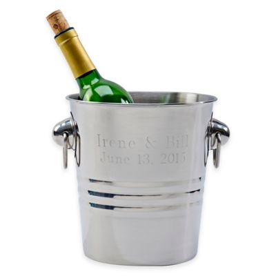 Stainless Steel Wine Cooler with Ring Handles
