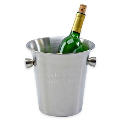 Stainless Steel Wine Cooler with Knob Handles