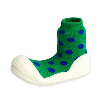 Attipas® Size 3.5 Polka Dot Infant and Toddler Shoe in Green