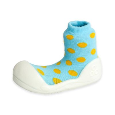 Attipas® Size 3.5 Polka Dot Infant and Toddler Shoe in Sky