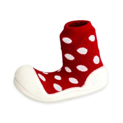 Attipas® Size 3.5 Polka Dot Infant and Toddler Shoe in Red
