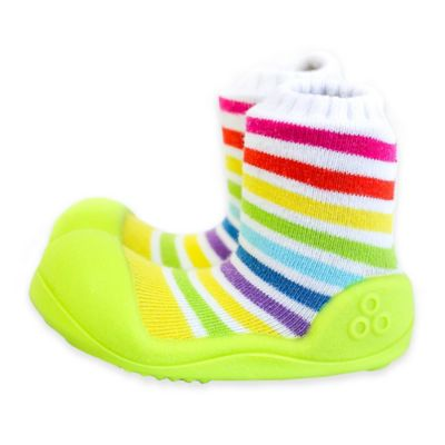 Attipas® Size 3.5 Rainbow Infant and Toddler Shoe in Green