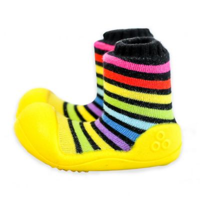 Attipas® Size 3.5 Rainbow Infant and Toddler Shoe in Yellow