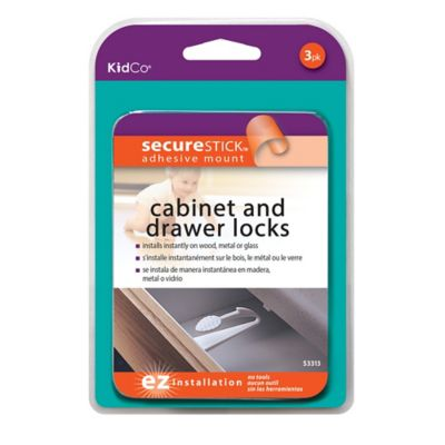 Kidco® Adhesive Mount Cabinet & Drawer Lock (3-Pack)