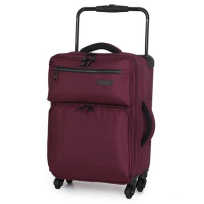 it Luggage World's Lightest® 22-Inch 4-Wheel Expandable Carry On Spinner in Chocolate Truffle