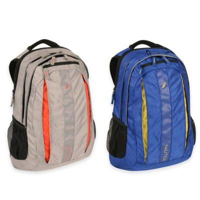 Nautica® NX6228 Laptop Backpack in Grey/Orange