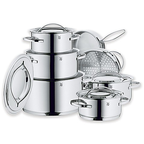 wmf gala ii stainless steel 12 piece cookware set bed bath beyond. Black Bedroom Furniture Sets. Home Design Ideas