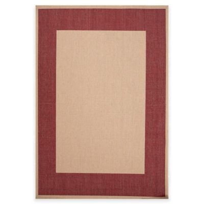 Jaipur Breeze Picnic 5-Foot 3-Inch x 7-Foot 6-Inch Indoor/Outdoor Area Rug in Taupe/Red