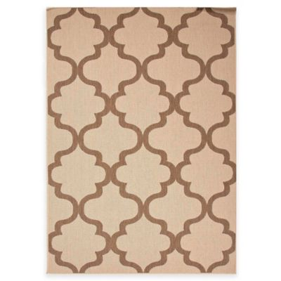 Jaipur Breeze Stamp 5-Foot 3-Inch x 7-Foot 6-Inch Indoor/Outdoor Area Rug in Taupe/Brown