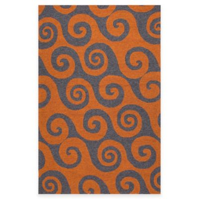 Orange Grey Indoor / Outdoor Rug