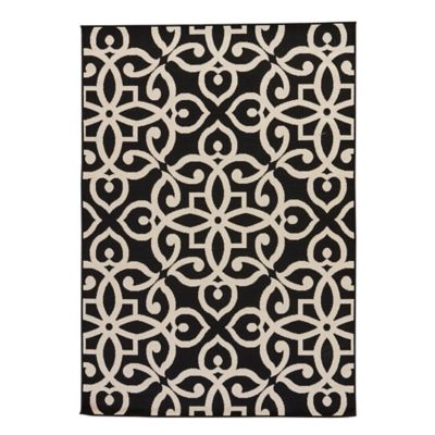 Jaipur Scrolled 2-Foot x 3-Foot 7-Inch Indoor/Outdoor Accent Rug in Black/Taupe
