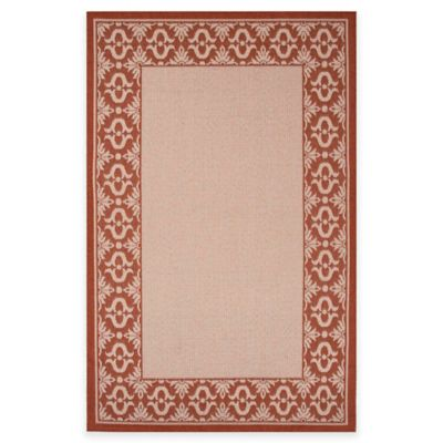 Ivory/Red Outdoor Rugs