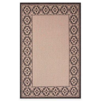 Jaipur Breeze Truss 5-Foot 3-Inch x 7-Foot 6-Inch Indoor/Outdoor Area Rug in Ivory/Black