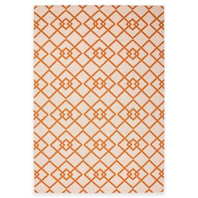 Jaipur Zhane 7-Foot 11-Inch x 10-Foot Indoor/Outdoor Area Rug in Taupe/Orange