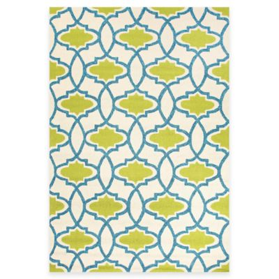 Jaipur Moresque 3-Foot 6-Inch x 5-Foot 6-Inch Indoor/Outdoor Accent Rug in Green/Blue