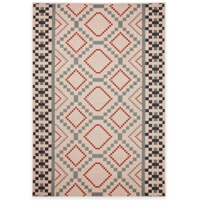 Jaipur Sammi 4-Foot x 5-Foot 3-Inch Indoor/Outdoor Area Rug in Ivory/Blue
