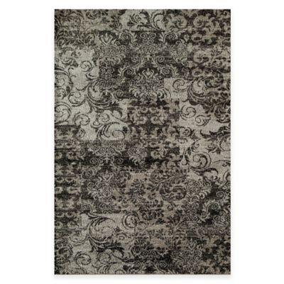 Rugs America Hudson Patch 2-Foot 3-Inch x 7-Foot 10-Inch Runner in Blue