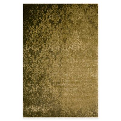 Rugs America Hudson Damask 2-Foot x 2-Foot 11-Inch Accent Rug in Green