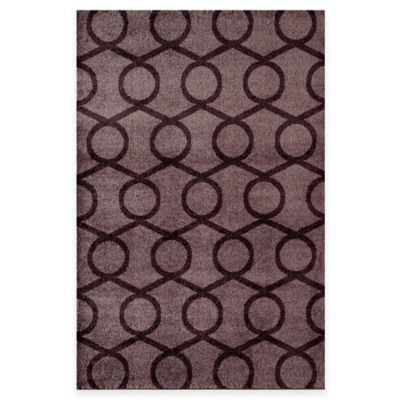 Rugs America Hudson Links 5-Foot 3-Inch x 7-Foot 10-Inch Area Rug in Red