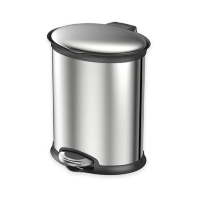 EKO Stainless Steel Oval 5-Liter Soft-Close Step Trash Can