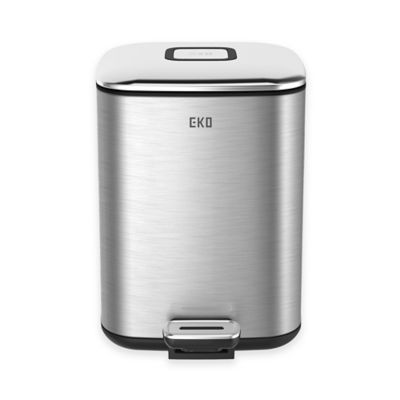 EKO Stainless Steel Square 6-Liter Soft-Close Step Trash Can