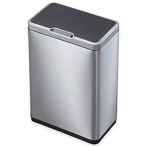 Buy eko mirage stainless steel rectangular 50 liter sensor trash can from bed bath beyond - Rectangular garbage cans ...